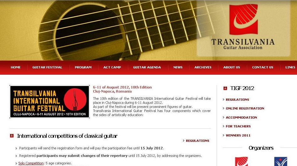 CLUJ: Festivalul Internaţional de Chitară, 6-11 august!