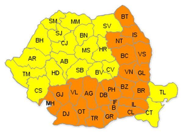 Cod galben şi portocaliu de caniculă. Temperaturi de 36 grade Celsius la umbră la Cluj!