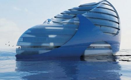 """Oraşul plutitor al viitorului. Maşinăria """"verde"""" cu propria sursă de energie şi apă!"""