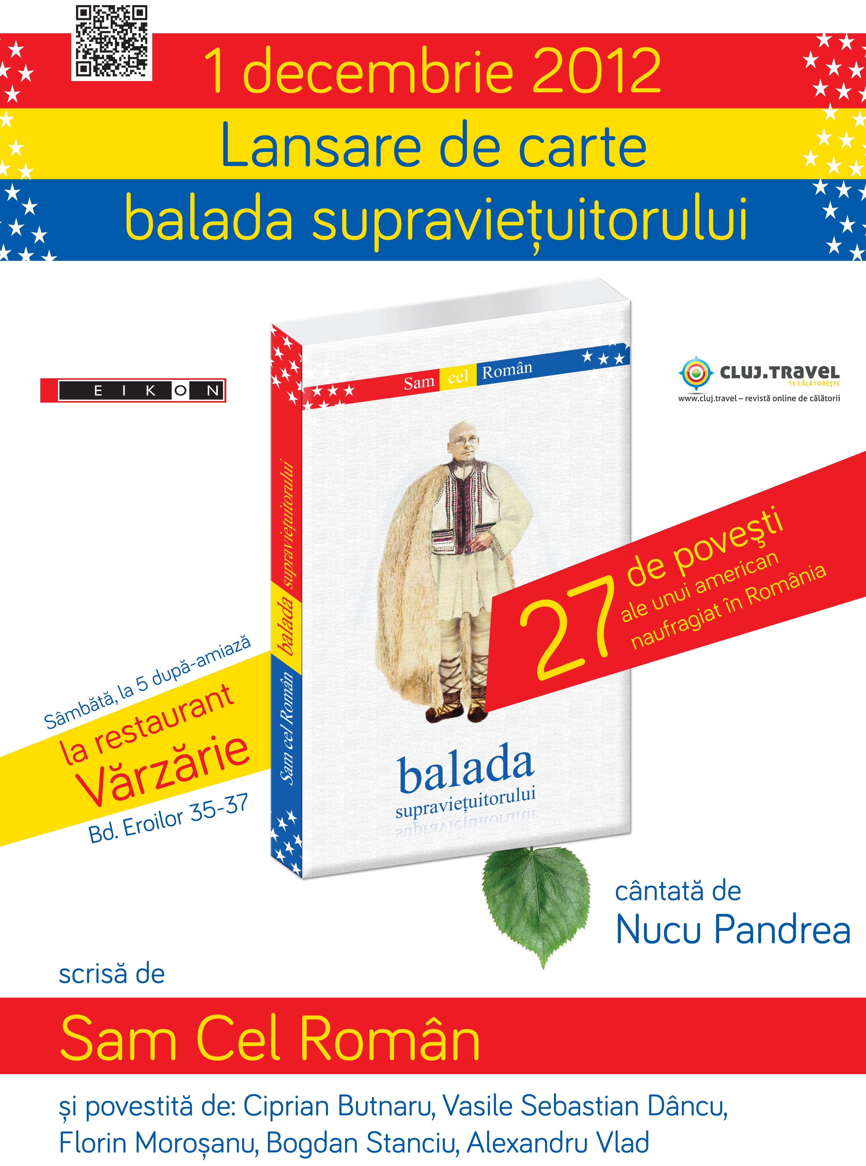 Sam cel Român, americanul stabilit la Cluj, lansează o carte în care îşi poveşte aventurile în ţara noastră!