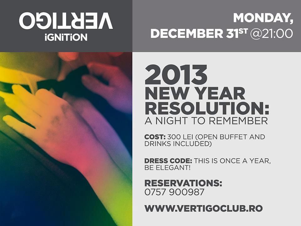 Revelion 2013 la Vertigo – o noapte de care să-ţi aduci aminte!