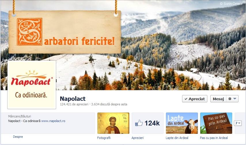 Napolact a devenit cea mai populară pagină de Facebook din judeţul Cluj