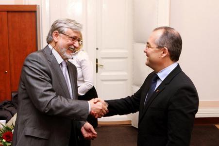 Emil Boc s-a întâlnit la Cluj cu Ambasadorul Lituaniei în România