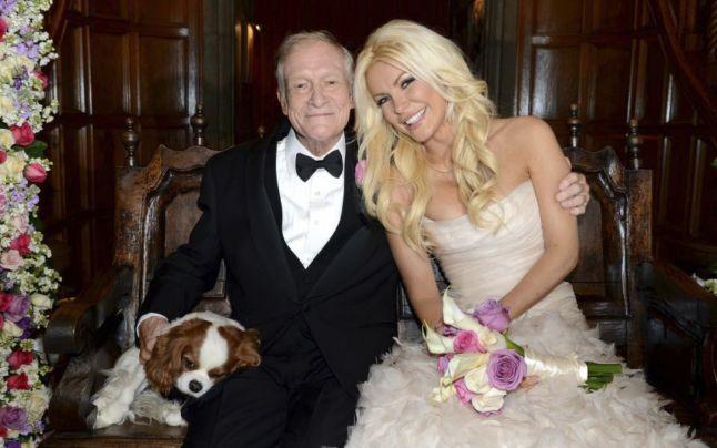 Hugh Hefner s-a căsătorit în noaptea de revelion
