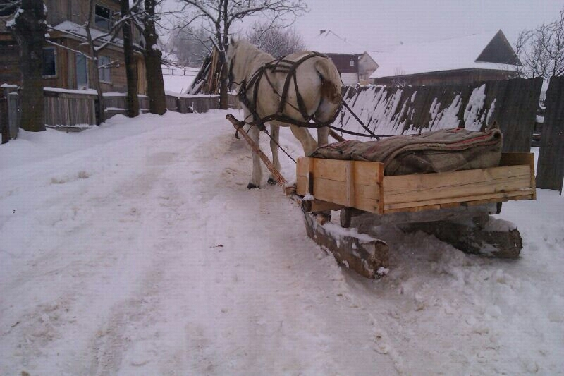 drum blocat iarna