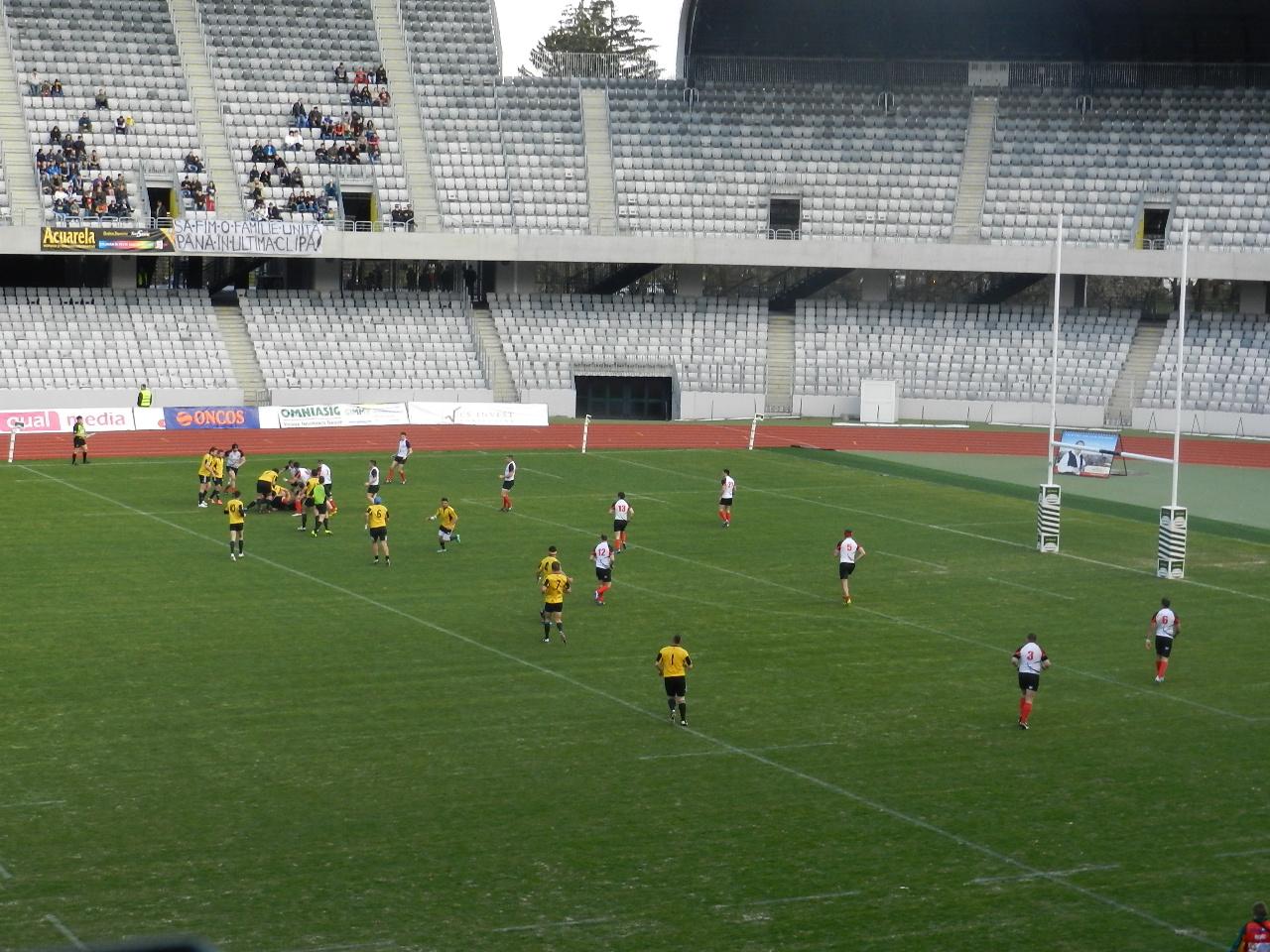 """""""U"""" Cluj vs CSM Bucureşti 49-26. Victorie muncită pentru rugbyiştii clujeni"""