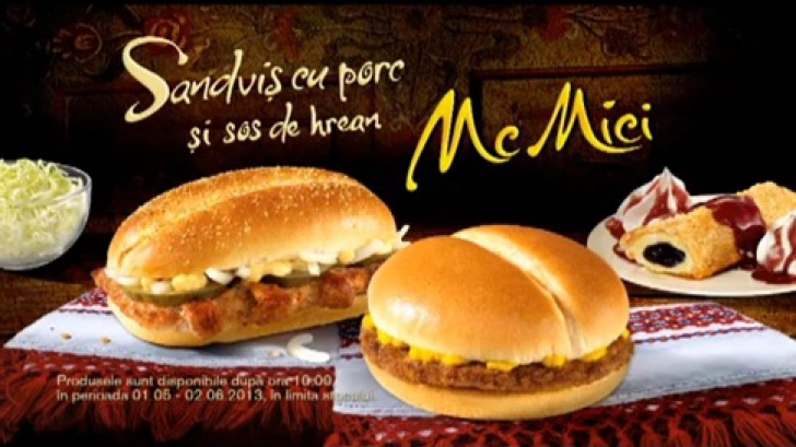 McMici, un produs cu specific românesc la McDonald's de la 1 Mai