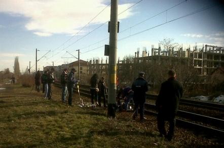 Un barbat semi-paralizat a fost spulberat de tren duminica seara in Halta Clujana