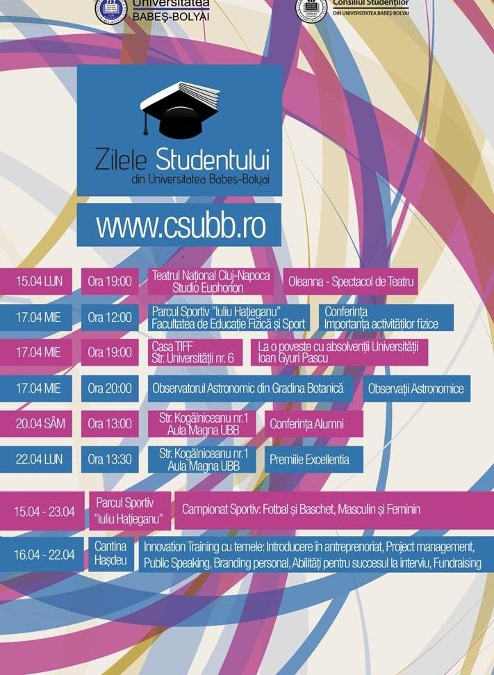zilele studentului din ubb 2013