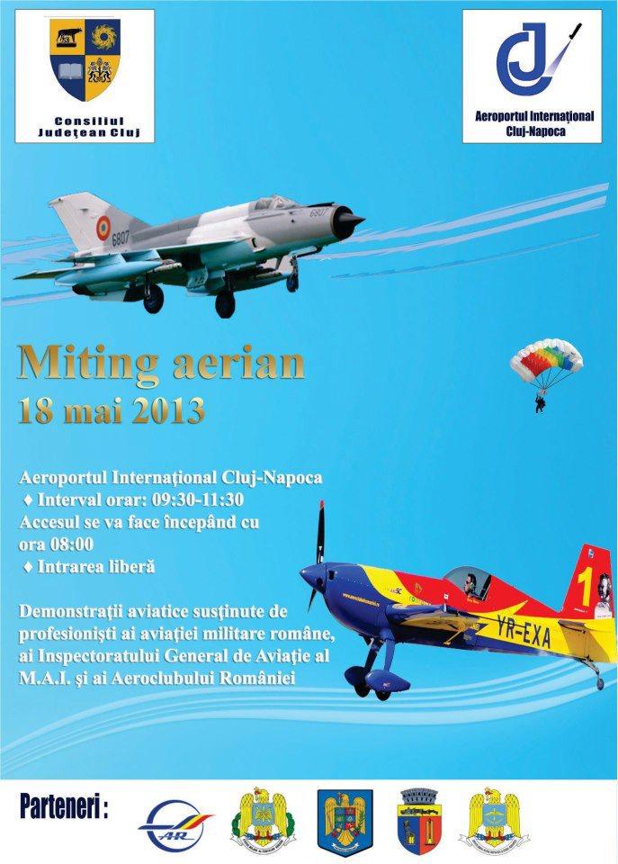 miting aerian 18 mai aeroport cluj