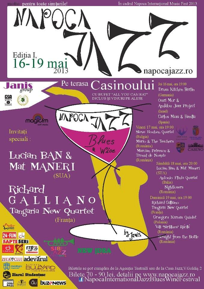"""""""Napoca Jazz, Blues & Wine Festival"""", un eveniment inedit care pune Clujul pe harta Jazz-ului şi Blues-ului internaţional"""