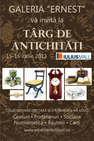 Targ de Antichitati la Iulius Mall, in acest weekend