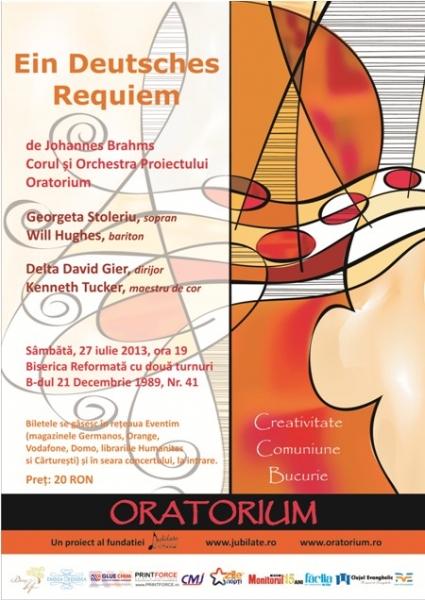 Proiectul Oratorium aduce 115 artisti la Cluj-Napoca
