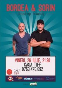 Stand Up Comedy cu Bordea si Sorin, vineri la Casa TIFF