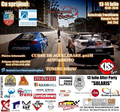 Transilvania Drag Race, curse de accelerare pe autostrada A3 Campia Turzii-Tg Mures