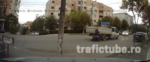 accident scuter camioneta gheorgheni