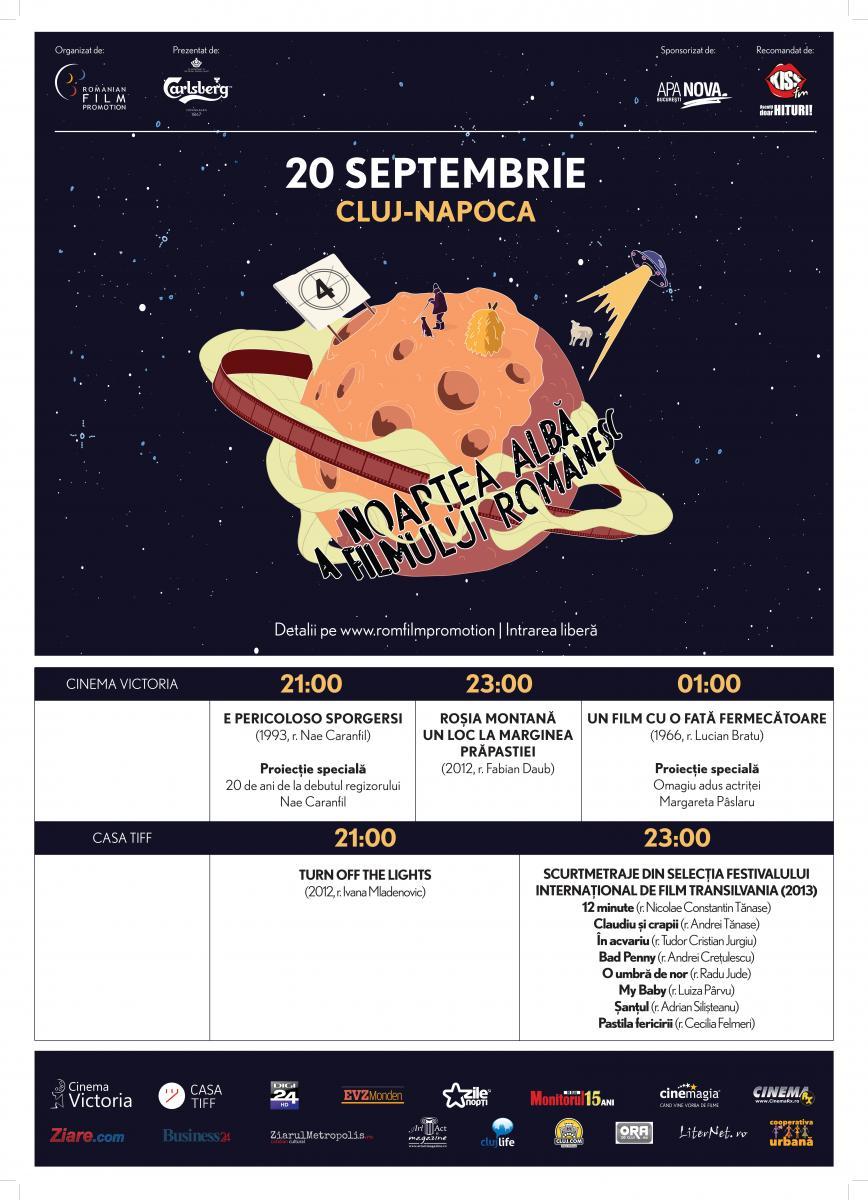 program noaptea alba a filmului romanesc cluj 2013