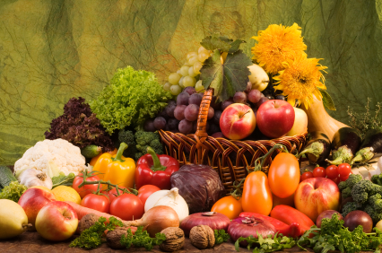 Vegetable and fruits food still-life