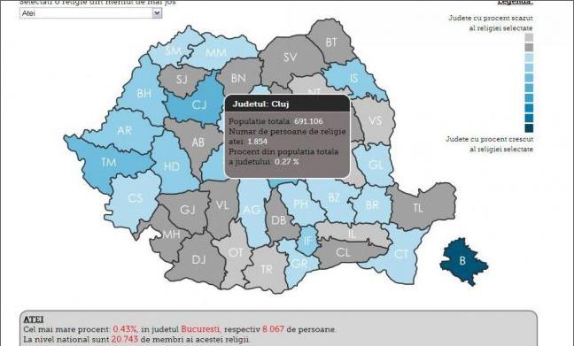 Cei mai multi ATEI din Provincie se afla in judetul Cluj