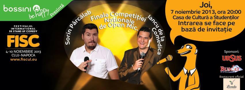 finala competitiei nationale de open mic 2013