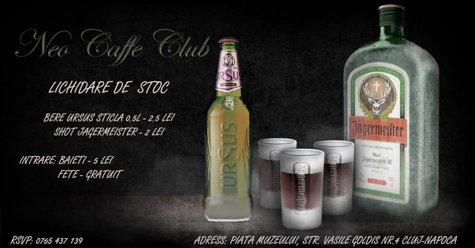 lichidare de stoc neo caffe club