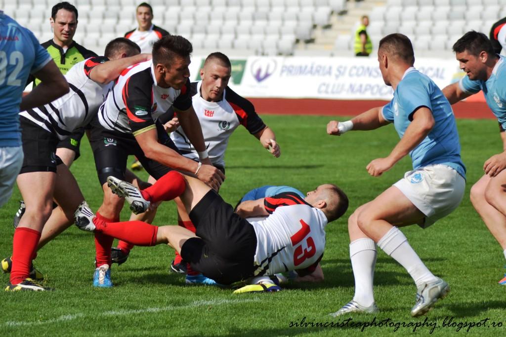 """""""U"""" Cluj – Ştiinţa Baia Mare, în semifinalele Cupei României la rugby masculin"""