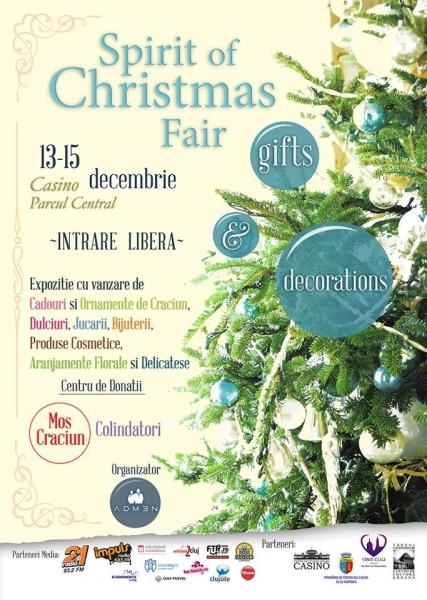 """Ediţia a doua a Târgului de Crăciun """"Spirit of Christmas Fair"""", în perioada 13-15 decembrie"""
