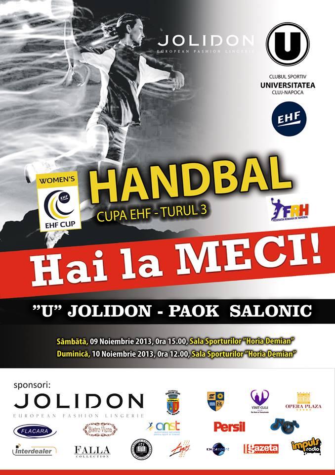 u jolidon - paok salonic cupa EHF