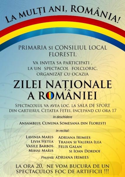 ziua nationala a romaniei in floresti