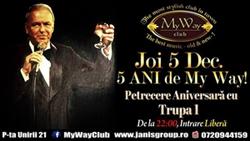 My Way aniverseaza 5 ani cu un concert al Trupei 1 Minut