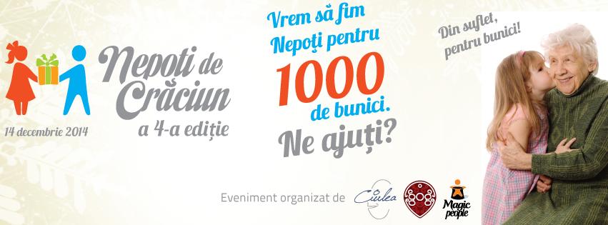 Fii şi tu Nepot de Crăciun pe 14 decembrie la Polus Center!