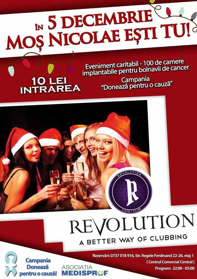 petrecere caritabila de mos nicolae la revolution club