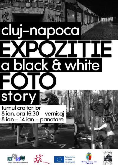 black and white expozitie foto