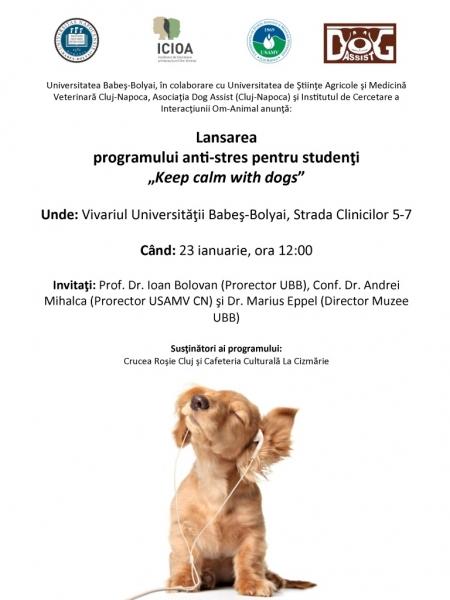 Program anti-stres pentru studenti, cu ajutorul cainilor de terapie