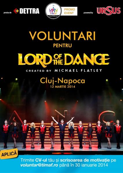 Se caută voluntari pentru Lord of The Dance