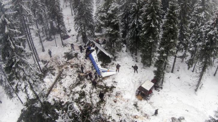Vremea proastă, primul vinovat pentru tragedia aviatică din Apuseni