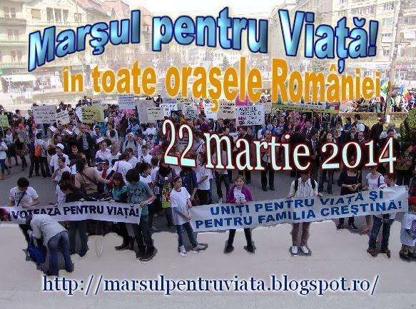 marsul pentru viata 22 martie