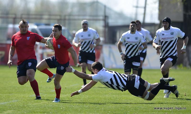 Infrangere la scor pentru rugbyistii clujeni in primul meci din Super Liga