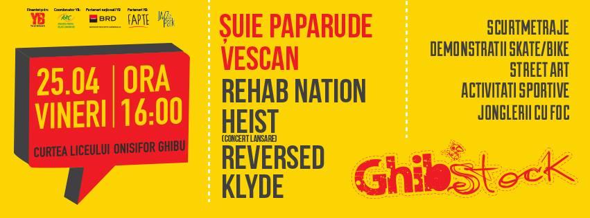 Suie Paparude si Vescan, capul de afis a editiei a V-a a Festivalului GhibStock