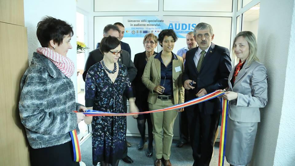 Sala specializata pentru audierea minorilor, inaugurata la Cluj