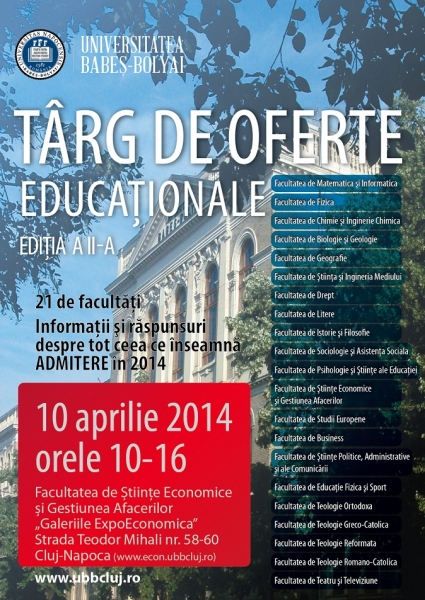 targ de oferte educationale ubb 2014