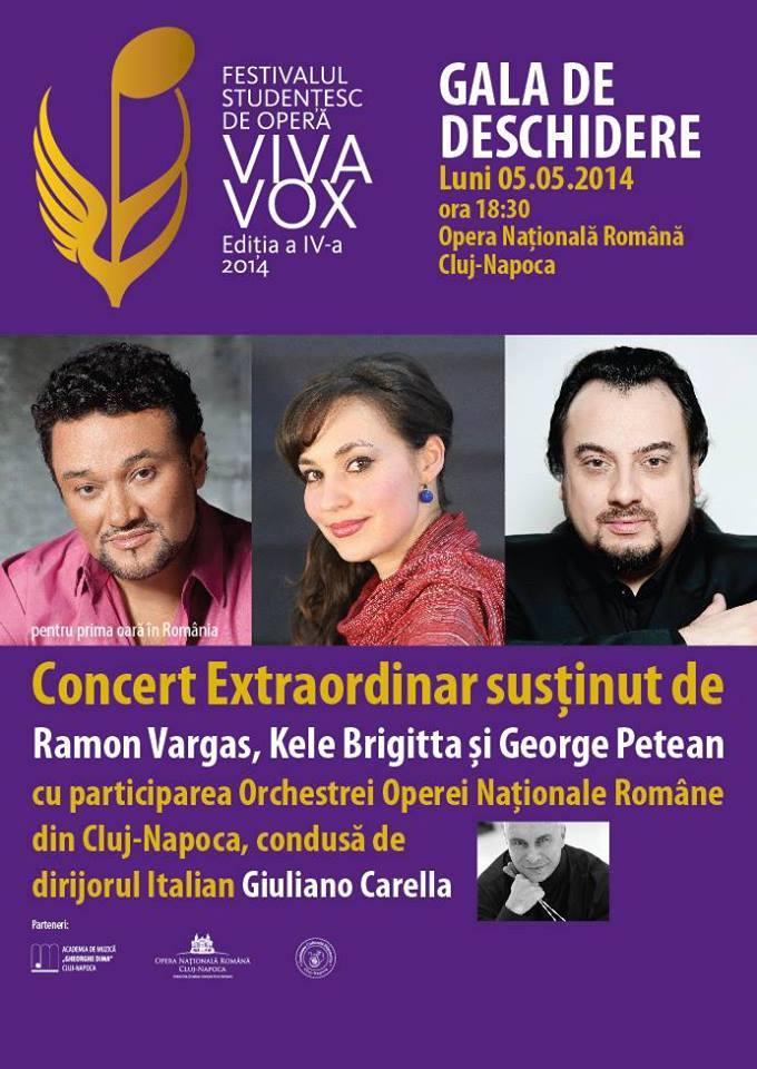 Festivalul Studenţesc de Operă Viva Vox, in perioada 5-11 mai la Cluj-Napoca