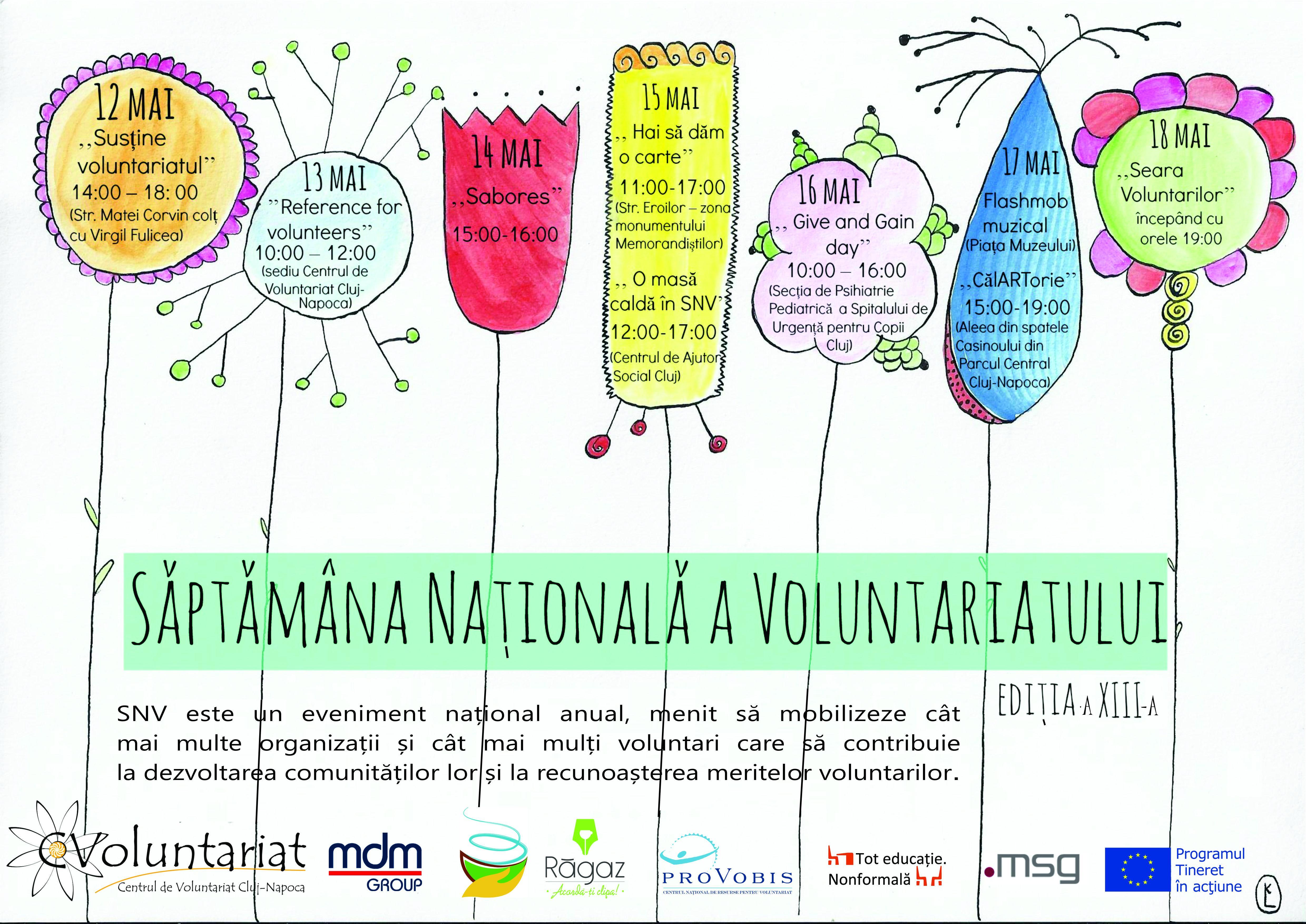 Incepe Săptămâna Voluntariatului la Cluj. Vezi programul integral