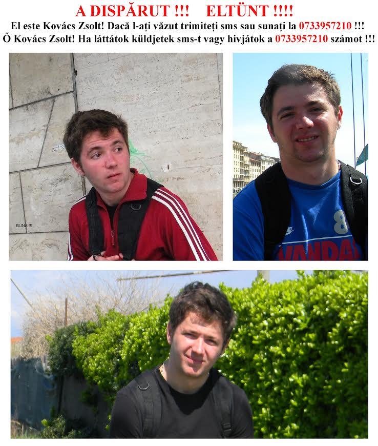 Tanar de 25 de ani DISPARUT din Cluj-Napoca. Il recunosti?