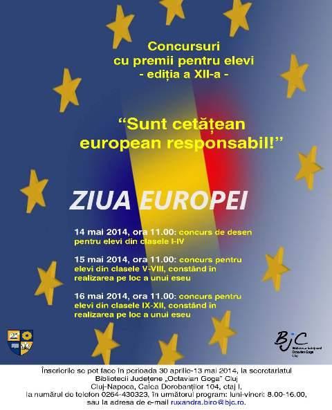Concursuri pentru elevi dedicate Zilei Europei