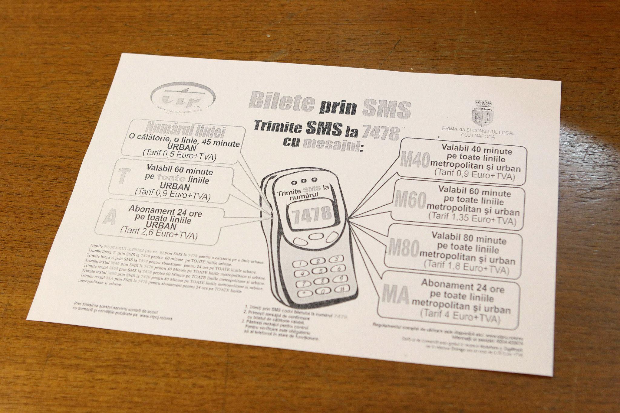 bilete prin sms CTP Cluj