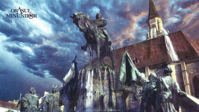 Statuia Matei Corvin orasul minunilor