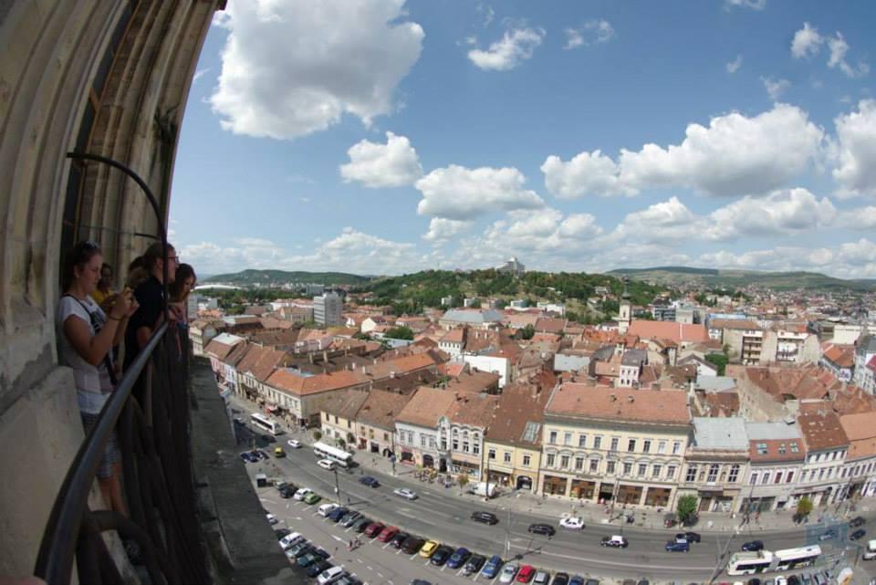 cluj napoca vedere din turnul bisericii sf mihail