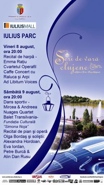 Seri de vară clujene în Iulius Parc