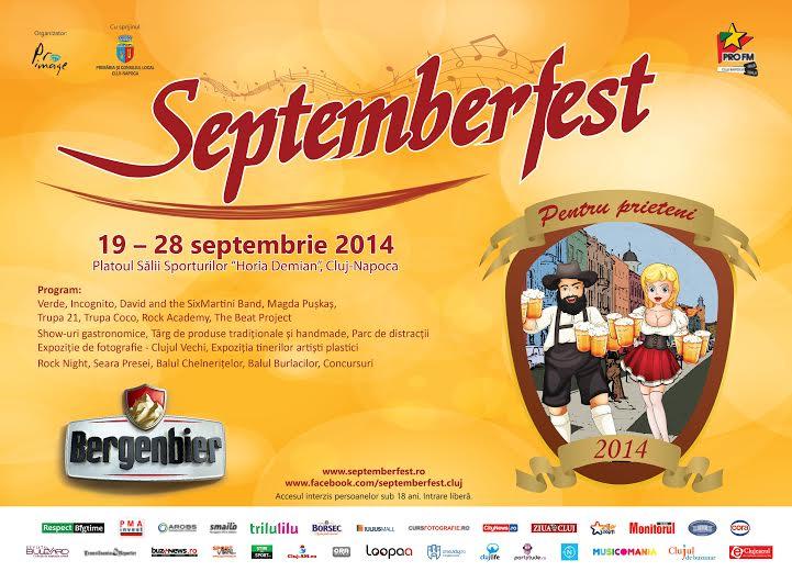 Ia-ți prietenii și vino la Septemberfest! 10 zile de distracție și bună dispoziție pe platoul Sălii Sporturilor
